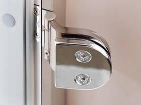 Стеклянная дверь для бани и сауны GREUS Classic прозрачная бронза 70/190 липа, фото 3
