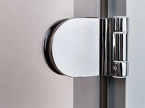 Стеклянная дверь для хамама GREUS прозрачная бронза 70/200 усиленная (3 петли) алюминий, фото 2