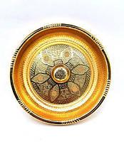 Чаша для обмивання золото для хамама - турецької лазні