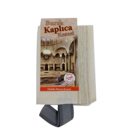 Кесе для тела жесткая BURSA (целлюлоза 100%) для хаммама - турецкой бани, фото 2