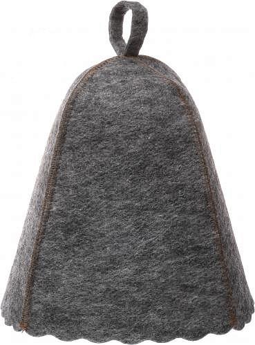 Шапка для сауни (сірий повсть) без вишивки