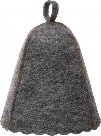 Шапка для сауни (сірий повсть) без вишивки, фото 2