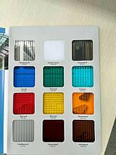 Поликарбонат нестандартных размеров Монолитный Сотовый Прозрачный Цветной