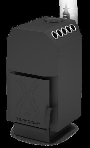 Опалювально варильна піч Теплодар ТОП 140 зі сталевий дверима, фото 2