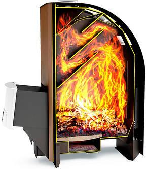 Дровяная печь для бани и сауны Теплодар Лагуна 22 ТК с ГЛП, фото 2