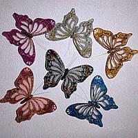 Об'ємні 3Д метелики на магнітах різного кольору (чорна)