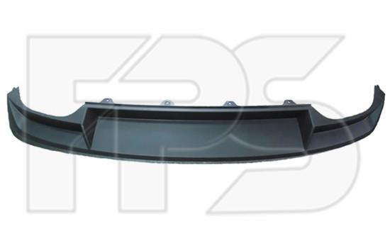 Спойлер заднього бампера Skoda Octavia A7 Liftback '13- (FPS) без вирізу під фаркоп 5E5807521