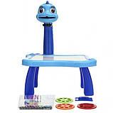 Детский стол проектор для рисования с подсветкой  Стол детский мольберт Baby для рисования СИНИЙ, фото 4