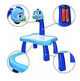 Детский стол проектор для рисования с подсветкой  Стол детский мольберт Baby для рисования СИНИЙ, фото 5