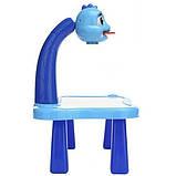 Детский стол проектор для рисования с подсветкой  Стол детский мольберт Baby для рисования СИНИЙ, фото 6