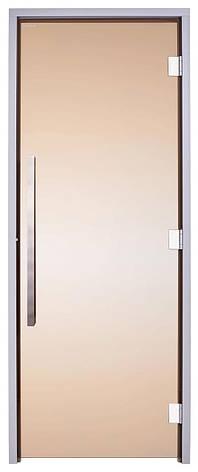 Скляні двері для хамама GREUS Exclusive 70/190 бронза 2 петлі, фото 2
