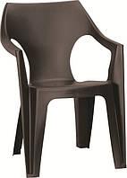 Стул пластиковый Dante low back, коричневый