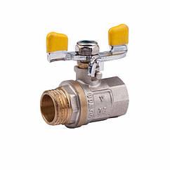 Кран шаровий Econom газ 20(3/4) МП вентиль