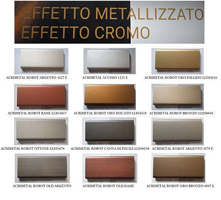 Металічний ефект 2K Акриловий VERINLEGNO (колір ACRIMETAL ROBOT ORO PALLIDO LLE03616),тара 1л, фото 2