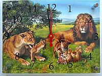 Годинник-картина 30x40 см, під склом, Леви, родина