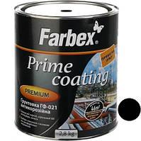 Грунтовка ГФ-021 антикорозійна Чорна ТМ Farbex  2,8 кг
