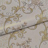 Обои для стен шпалери квіти вініл на паперовій основі  винил 0,53*10м, ограниченное количество