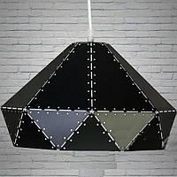 Люстра классическая хай-тек подвес черный 1 лампа