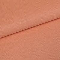 Обои для стен шпалери однотонні оранжеві вінілові на паперовій основі без підбору 0,53*10м