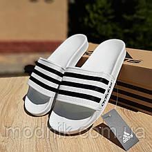 Чоловічі плескачі Adidas (білі) О40041 стильні легкі тапочки