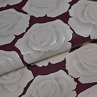 Обои для стен шпалери розы с подбором винил на флизелине 1,06*10м