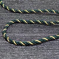 Шнур декоративный для натяжных потолков, зеленый золото, 11 мм