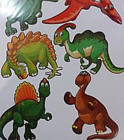 Наклейка, интерьерная, Динозавры, Label №31