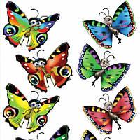 Наклейка, бабочки, интерьерная Label №20
