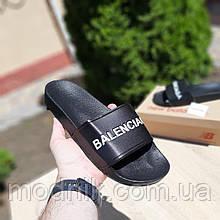 Чоловічі плескачі Balenciaga (чорні) О40042 стильні літні тапочки
