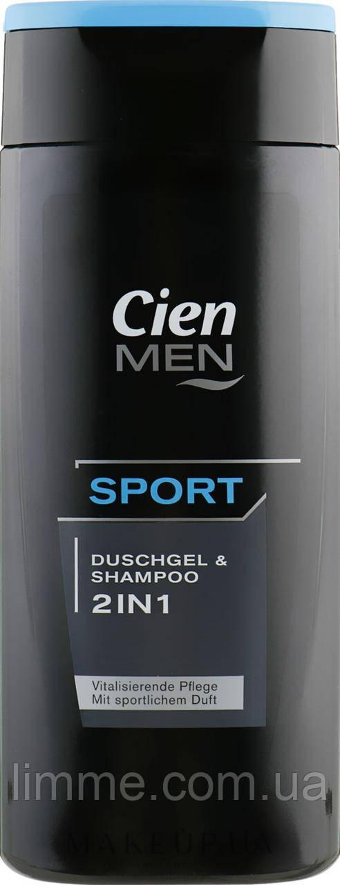 Гель для душа + шампунь Cien Men 2в1 Sport  300 мл