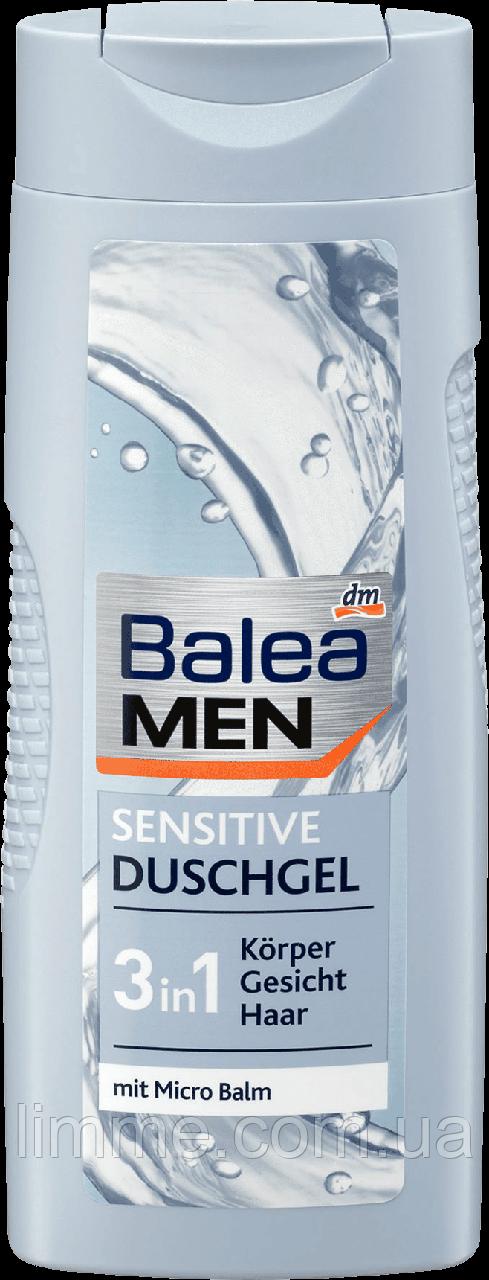 Чоловічий гель-шампунь для душа Balea Men Sensitive duschgel 3in1 300 мл