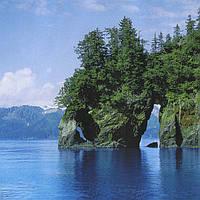 Фотошпалери, скелі, ліс, Бухта радості, 8 листів, розмір 134 x 194cm