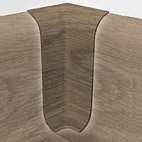 Внутрійшній кут внутрішній кут ПВХ для підлоги 2,5 м різного кольору до плінтусу 500-
