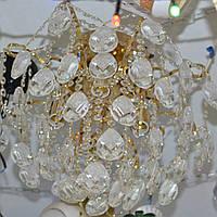 Люстра кришталева золото 8 ламп