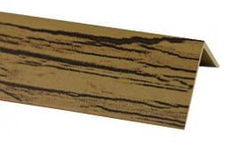 Кутник декоративний №15SWU/Дуб натуральний 20*20мм 2,75м