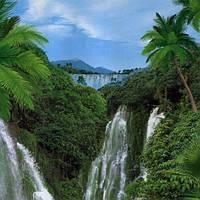 Фотошпалери, водоспад, Каскад , 8 листів, розмір 134х194 см