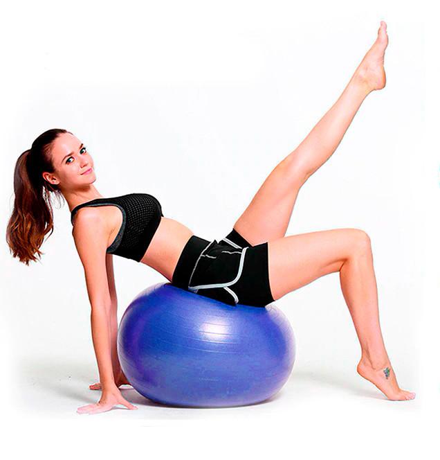 Фітбол (М'яч для фітнесу, гімнастичний) глянець OSPORT 85 см (OF-0020) Синій