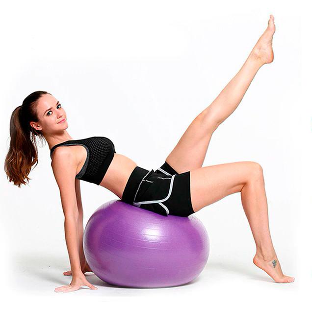 Фітбол (М'яч для фітнесу, гімнастичний) глянець OSPORT 85 см (OF-0020) Фіолетовий