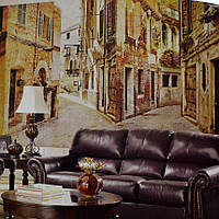 Фотообои, старый город, улица,  ПРЕСТИЖ №38 392смХ204см