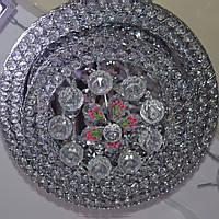 Люстра хрустальная 8 ламп серебро цветы