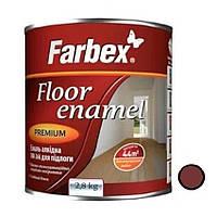 Эмаль алкідна фарба Червоно-коричнева глянцева ТМ Farbex 2,8 кг