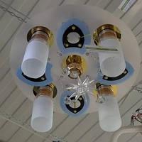 Люстра белая матовая 5 лампи