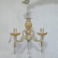 Люстра свічник підвісна бежева 3 лампи