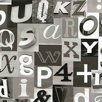 Самоклейка, альфа чорна алфавіт GEKKOFIX 13410, Голанндия, 45 cm