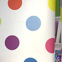 Шпалери для стін паперові на флізелін різнокольорові круги Graham and Brown Kids&Home Individual 0.53х10м