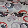 Обои на стену бумажные светлые с черно-красными кругами 0,53*10м