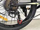 """Спортивный велосипед TopRider 611 колёса 20д / Shimano / рама стальная 13"""" / черно-салатовый, фото 4"""