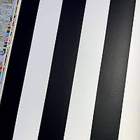 Шпалери для стін паперові на флізелін смуга чорно-біла Graham and Brown Kids&Home Individual 0.53х10м