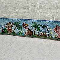 Бордюры для обоев, детские, мавпы,  ширина 8 см, ограниченное количество