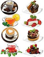 Наклейка, чай, тортик, десерт, интерьерная Label №14